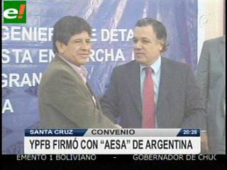 YPFB y AESA firman contrato para construir la planta de Río Grande