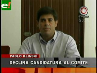 Klinsky descarta postulación al Comité Cívico