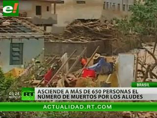 Aumenta hasta más de 660 el número de víctimas de los temporales en Brasil