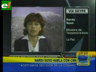"""Nardi Suxo: """"Los procesos contra Cossío continuarán"""""""