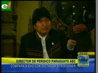 Director de ABC compara al Gobierno de Evo con la dictadura de Stroessner