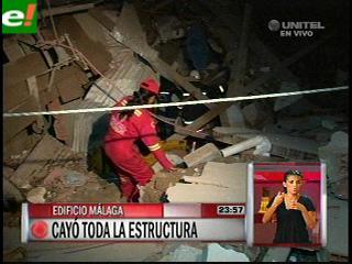 Se desplomó un edificio en Santa Cruz