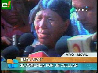 """Bonifacia Flores: """"Mi hijo está vivo"""""""