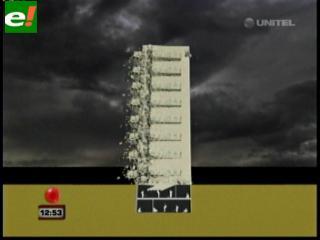 Así se cayó el edificio Málaga