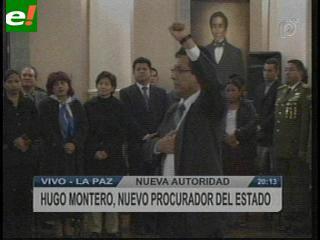 Posesionan a Hugo Montero Lara como el Primer Procurador de Bolivia
