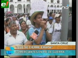 Manifestantes piden la eliminación de Emapa