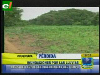 Municipio de Macharetí sufre a causa de las intensas lluvias