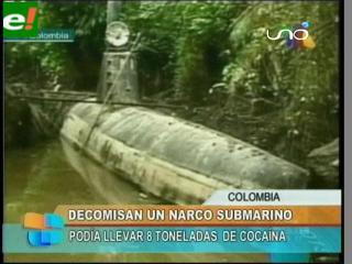 """El primer """"narco-submarino"""" completamente sumergible"""