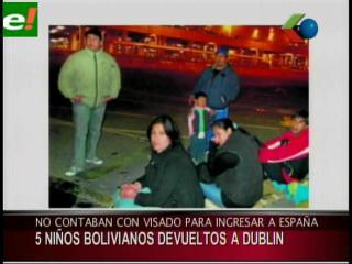 Devuelven a Dublín a cinco menores bolivianos retenidos sin visado