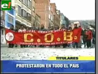 Protestas en todo el país