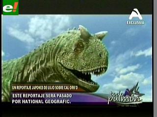 Japoneses grabaron reportaje sobre la era de los dinosaurios en Sucre