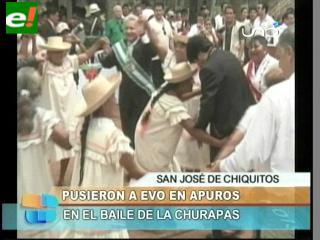 """""""Las churapas"""" pusieron a Evo en apuros"""
