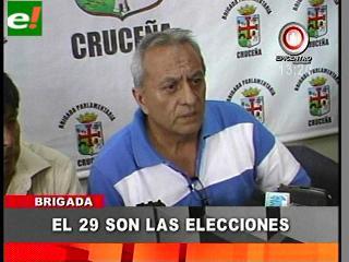 El 29 son las elecciones en la Brigada Parlamentaria Cruceña