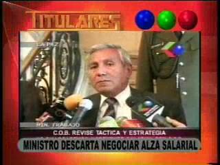 Ministro descarta negociar alza salarial