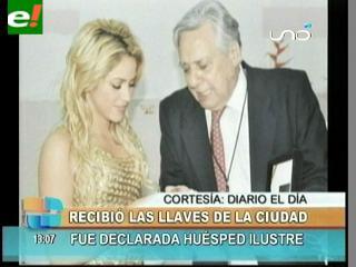 Shakira huésped ilustre de Santa Cruz