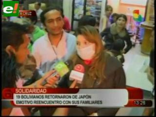 19 bolivianos vuelven de Japón por temor