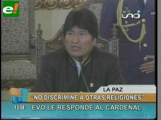 """Morales: """"Algunos jerarcas de la Iglesia Católica nos discriminan"""""""