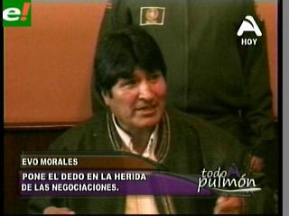 """Morales: """"En cinco años de diálogo Chile sólo ha querido perder el tiempo"""""""