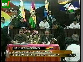 Los acuerdos suscritos entre ministros de Bolivia y Venezuela