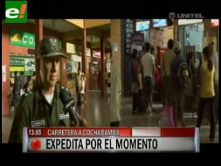 Desbloquean carretera Santa Cruz – Cochabamba