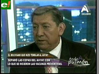 Julio Cisneros Espinoza, el boliviano que hizo temblar al virus AH1N1