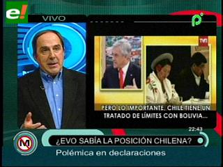 """Aliaga: """"Bolivia perderá si Evo demanda a Chile en La Haya"""""""