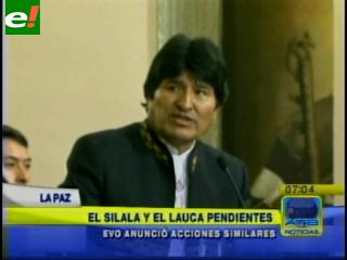 Evo advierte a Chile que hará respetar manantial Silala y río Lauca con o sin diálogo