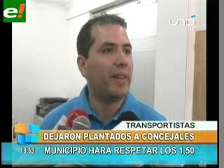 Transportistas dejan plantados a concejales