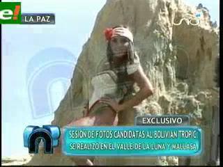 Candidatas al Miss Bolivian Tropic en sesión de fotos