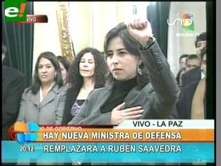 María Cecilia Chacón es la nueva Ministra de Defensa