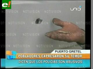 Víctimas culpan a policías de la balacera en Yapacaní