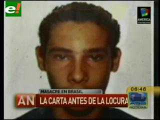 La carta que dejó el asesino de Brasil