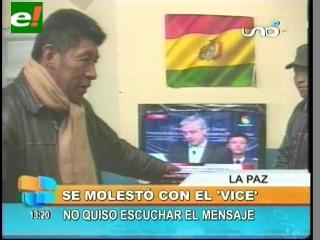 Montes se enoja al escuchar el mensaje del Vicepresidente