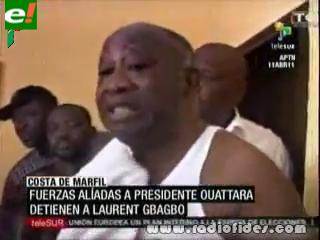 Detuvieron al presidente saliente de Costa de Marfil, Laurent Gbagbo
