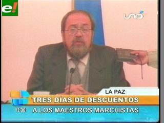 """Ministro de Educación: """"Maestros que paren sufrirán descuentos"""""""