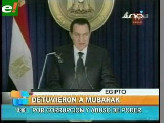 Detienen a Mubarak