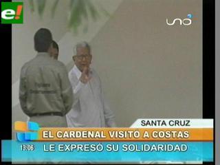 Cardenal Julio Terrazas visita a Rubén Costas