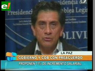 Gobierno da por cerrado el conflicto salarial con la COB