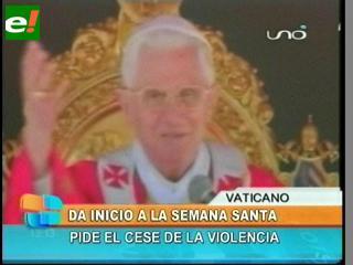 El Papa inició la Semana Santa