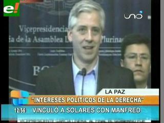 García Linera dice que Manfred, Solares y la derecha manipularon la demanda de la COB