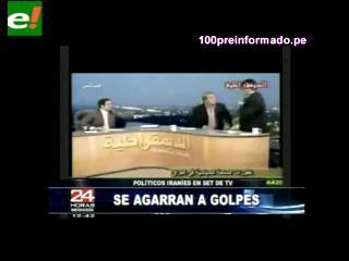 Políticos iraníes se agarran a golpes en set de televisión