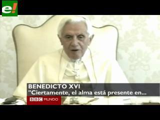 Benedicto XVI responde a preguntas de ciudadanos en televisión