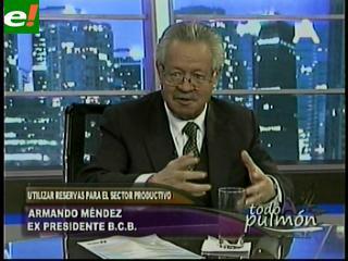 """Armando Méndez: """"Si hay referéndum, votaría por no usar las reservas internacionales"""""""