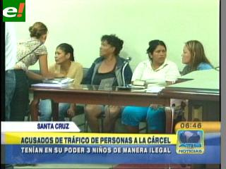 Envían a Palmasola a siete personas acusadas de tráfico de menores