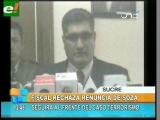 Fiscal General rechaza la renuncia de Marcelo Soza al caso Rózsa