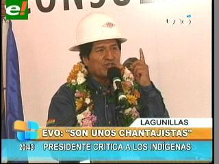 """Evo: """"Algunos indígenas perjudican y chantajean a YPFB"""""""