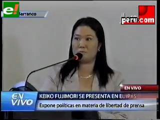 Keiko garantiza libertad de prensa