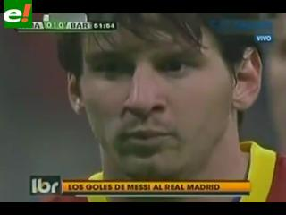 Los goles que Messi le hizo al Real Madrid