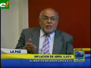 Inflación de abril del 0,02% es la más baja del año