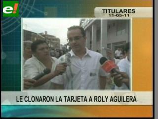 Clonaron la tarjeta de Roly Aguilera